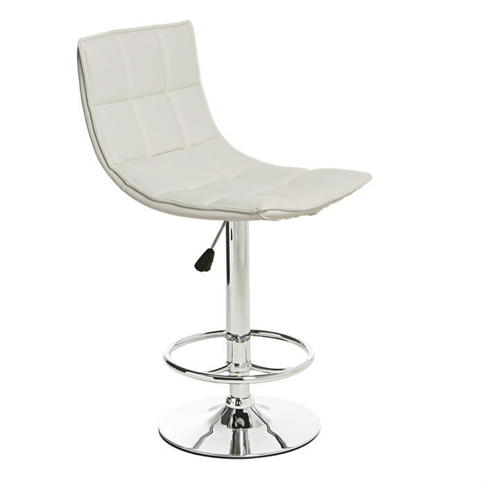 dam chaise de bar blanche achat vente tabouret m tal pvc cdiscount. Black Bedroom Furniture Sets. Home Design Ideas