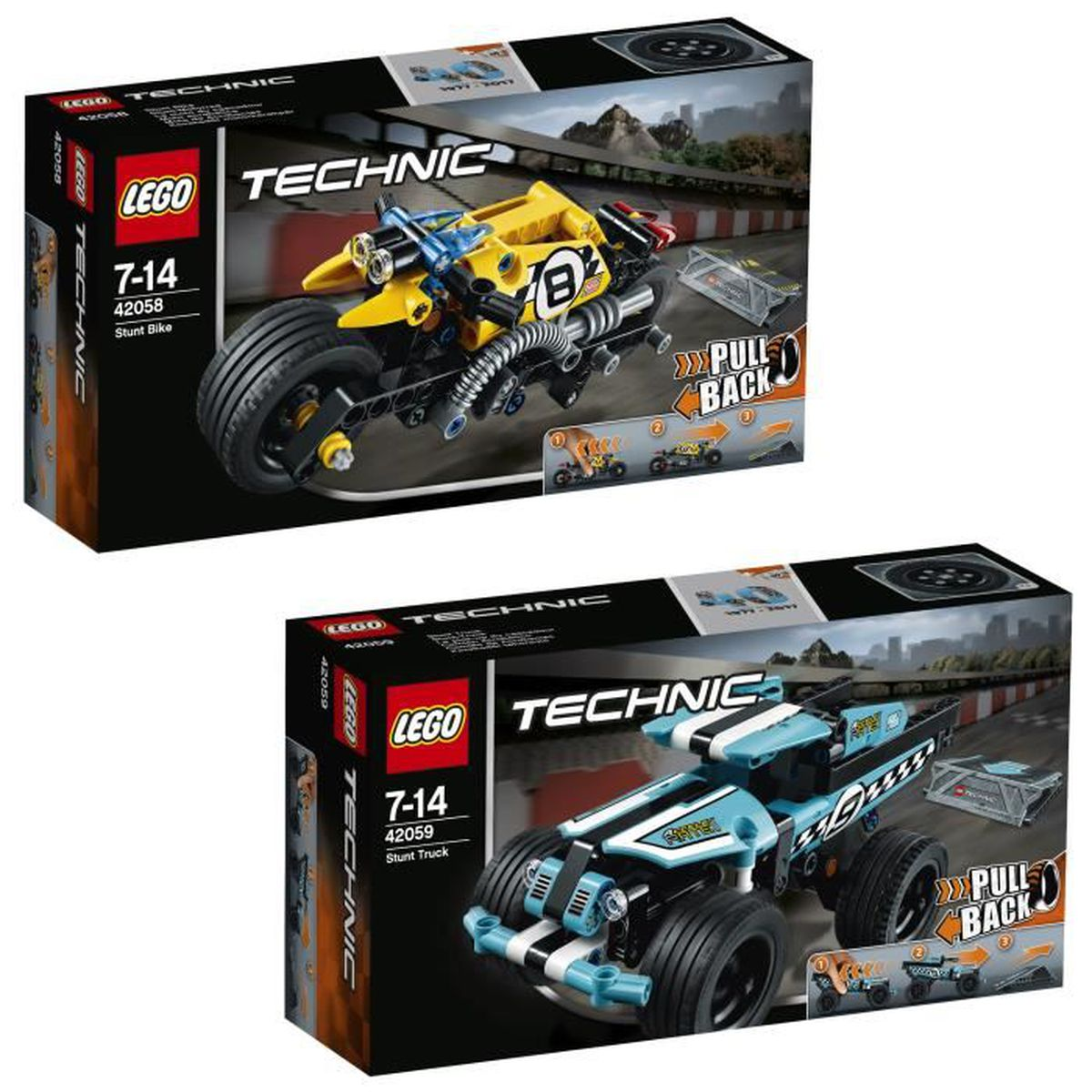 pack lego technic power racer 42058 42059 achat. Black Bedroom Furniture Sets. Home Design Ideas