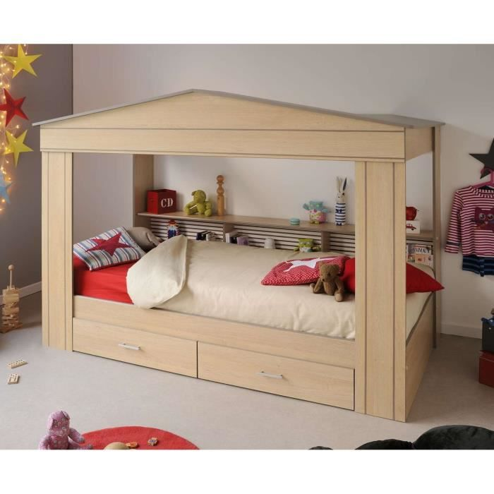 robinson lit cabane enfant ch ne baltic taupe achat vente structure de lit robinson lit. Black Bedroom Furniture Sets. Home Design Ideas
