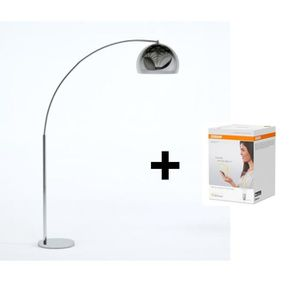 LAMPADAIRE DESI Lampadaire arceau chromé - H 166 cm - Contemp