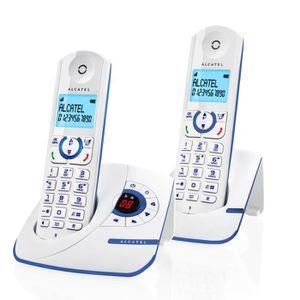 Téléphone fixe Alcatel F390 Duo Téléphone Sans Fil Répondeur Blan