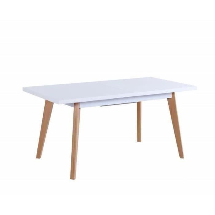 Sacha table manger extensible 4 6 personnes 160 190x80 for Salle a manger 4 personnes