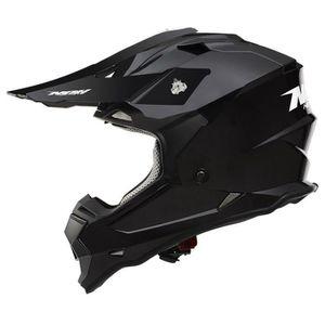 CASQUE MOTO SCOOTER NOX Casque Cross N632 Junior Noir verni