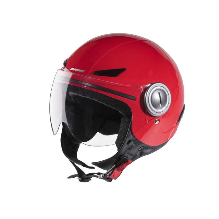 CASQUE MOTO SCOOTER NOX N216 Casque Jet Enfant Rouge + Auto-collants