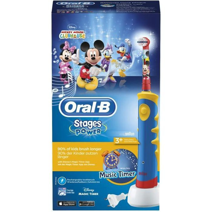 oral b stages power mickey de disney brosse dents lectrique achat vente brosse a dents. Black Bedroom Furniture Sets. Home Design Ideas