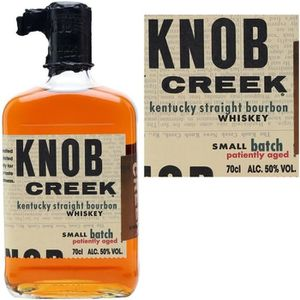 WHISKY BOURBON SCOTCH KNOB CREEK patiently aged 50%