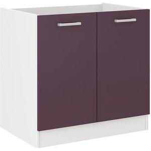 ELEMENTS BAS ULTRA Meuble bas de cuisine sous évier L 80 cm - A
