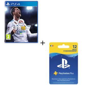JEU PS4 FIFA 18 + Abonnement PlayStation Plus 12 mois