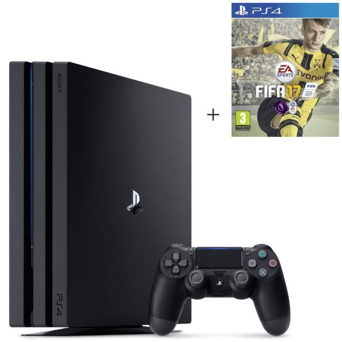 ps4 pro noire 1 to fifa 17 achat vente console ps4 nouveaut ps4 pro noire 1to fifa17. Black Bedroom Furniture Sets. Home Design Ideas
