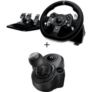 VOLANT PC Pack Logitech Volant de Course G920 Driving Force