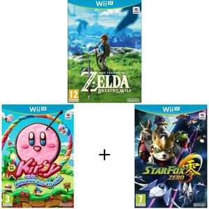 JEUX WII U Pack de 3 jeux WII U : Zelda-Breath of the Wild +