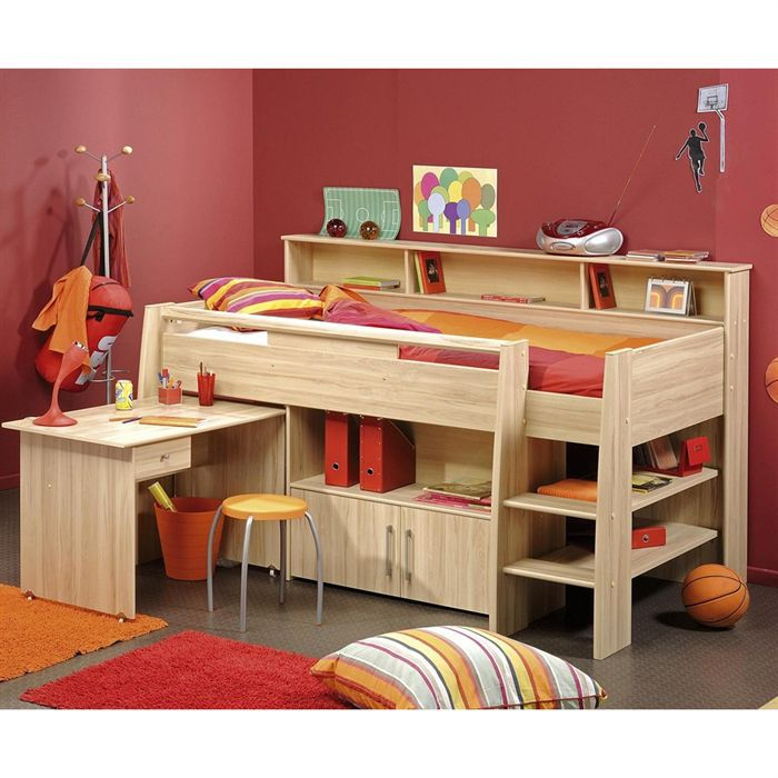 goupil lit enfant combin 100x200 cm achat vente lit. Black Bedroom Furniture Sets. Home Design Ideas