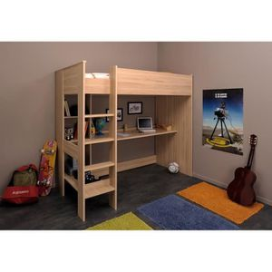 goupil lit enfant mezzanine 90 x 200 cm achat vente lits superpos s goupil lit mezzanine 90. Black Bedroom Furniture Sets. Home Design Ideas