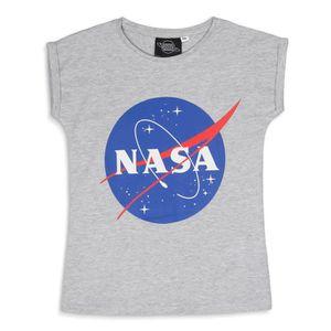 T-SHIRT NASA T-shirt Gris Bleu et Rouge Enfant Fille
