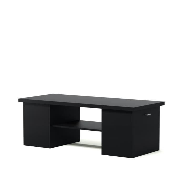 Cocktail table basse bar 119 cm noir achat vente table basse cocktail t - Table basse bar design ...