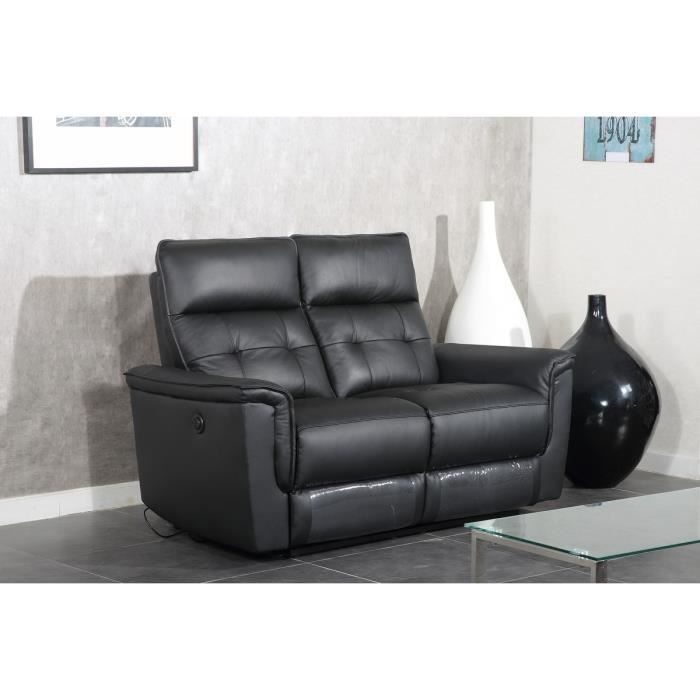 Millesime canap de relaxation lectrique cuir 2 places 156x93x103cm - Canape relax cuir 2 places ...