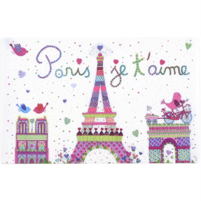 Set de table plastique 44x28cm paris je t 39 aime achat - Set de table plastifie ...