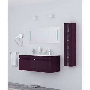 meuble salle de bain violet achat vente meuble salle. Black Bedroom Furniture Sets. Home Design Ideas