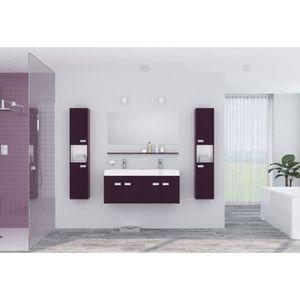 SALLE DE BAIN COMPLETE ALPOS Ensemble salle de bain double vasque avec mi