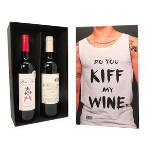 COFFRET CADEAU VIN Coffret Vin KIFF MY WINE + 2 bouteilles de vin
