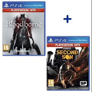 JEU PS4 Pack 2 Jeux PS4 PlayStation Hits : Bloodborne + In