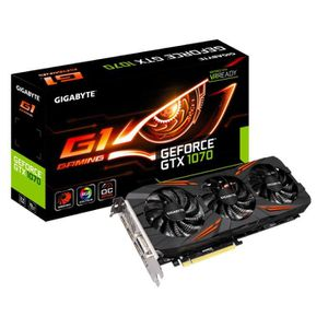 CARTE GRAPHIQUE INTERNE GIGABYTE Carte graphique GeForce® GTX 1070 G1 Gami