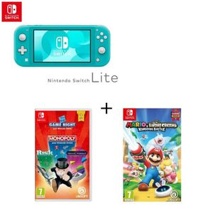 CONSOLE NINTENDO SWITCH Pack Nintendo Switch Lite Turquoise + Jeu Swtich M