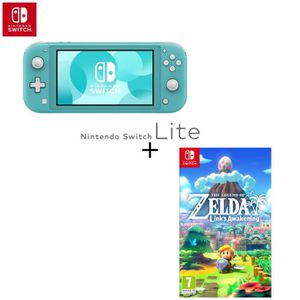 CONSOLE NINTENDO SWITCH Console Switch Lite Turquoise + Jeu Switch The Leg