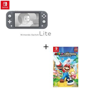 CONSOLE NINTENDO SWITCH Pack Nintendo Switch Lite Grise + Jeu Swtich Mario