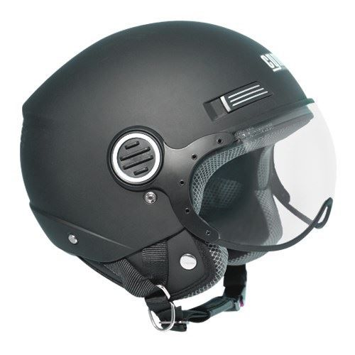 casque jet cgm 107a vizard noir ecran aviateur achat vente casque moto scooter casque jet. Black Bedroom Furniture Sets. Home Design Ideas