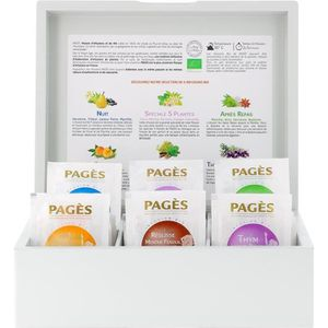 INFUSION PAGES Coffret Bois Infusions Bio - 60 sachets