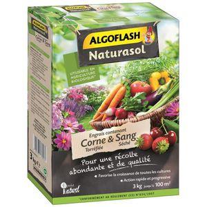 ENGRAIS ALGOFLASH NATURASOL Engrais contenant de la corne