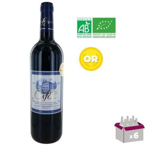VIN ROUGE Château Cafol 2015 Castillon Côtes de Bordeaux - V