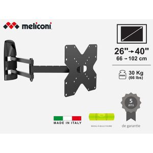 FIXATION - SUPPORT TV MELICONI MB200 FULL MOTION Support mural pour TV d
