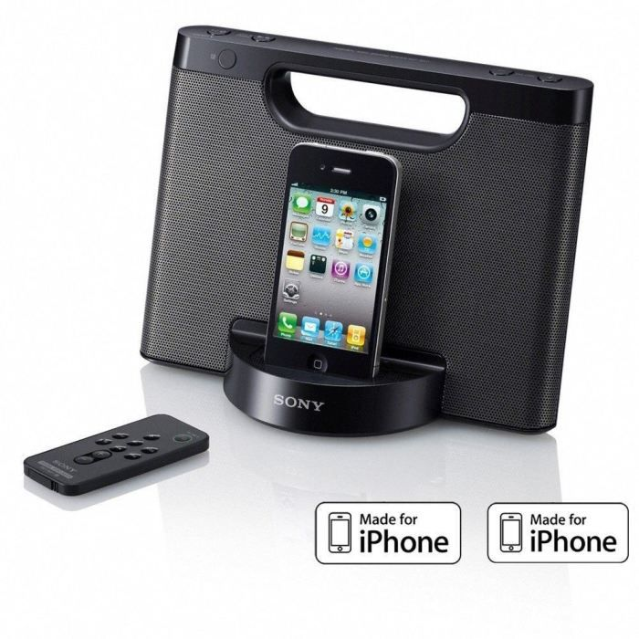 sony rdp m5ip noir station d 39 accueil ipod iphone. Black Bedroom Furniture Sets. Home Design Ideas