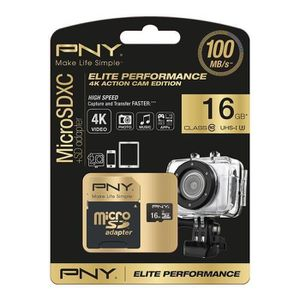 CARTE MÉMOIRE PNY Elite performance Micro SD HC/XC 16Go