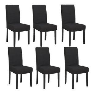 CHAISE STRIP Lot de 6 chaises de salle à manger déhoussab