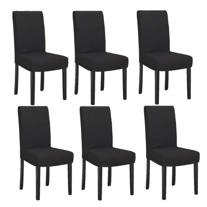Strip Lot De 6 Chaises De Salle Manger D Houssables