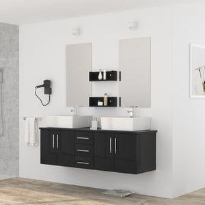 SALLE DE BAIN COMPLETE DIVA Ensemble salle de bain double vasque avec mir
