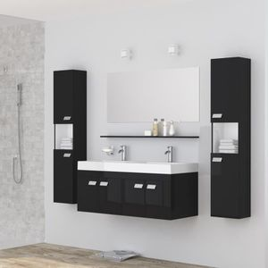 Meuble salle de bain avec double vasque et miroir