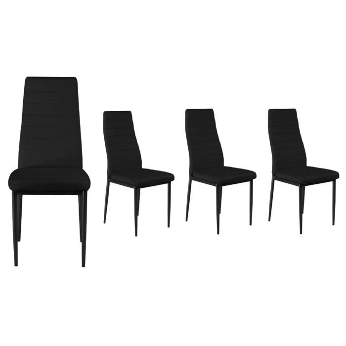 lot de 4 chaises pulp noires achat vente chaise acier epoxy pvc cdiscount. Black Bedroom Furniture Sets. Home Design Ideas