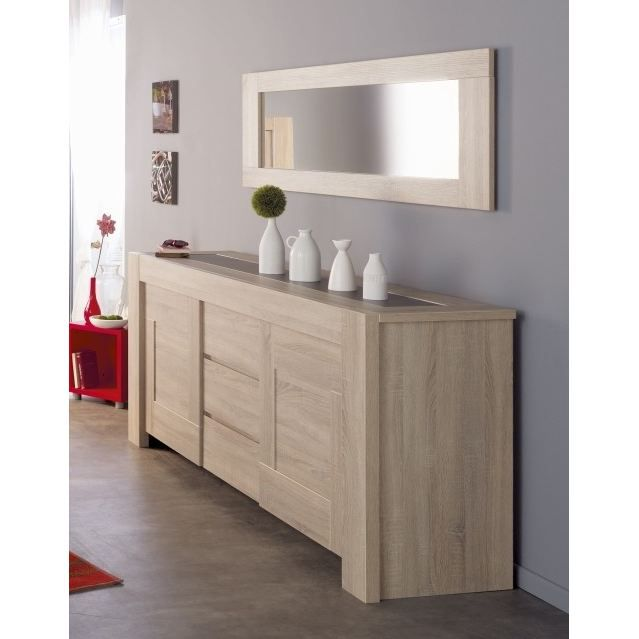mathias miroir coloris ch ne et gris achat vente miroir mathias miroir cdiscount. Black Bedroom Furniture Sets. Home Design Ideas