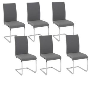 lot de 6 chaises grises maison design. Black Bedroom Furniture Sets. Home Design Ideas