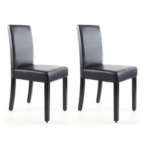 CHAISE CLARA Lot de 2 Chaises de salle à manger - Simili