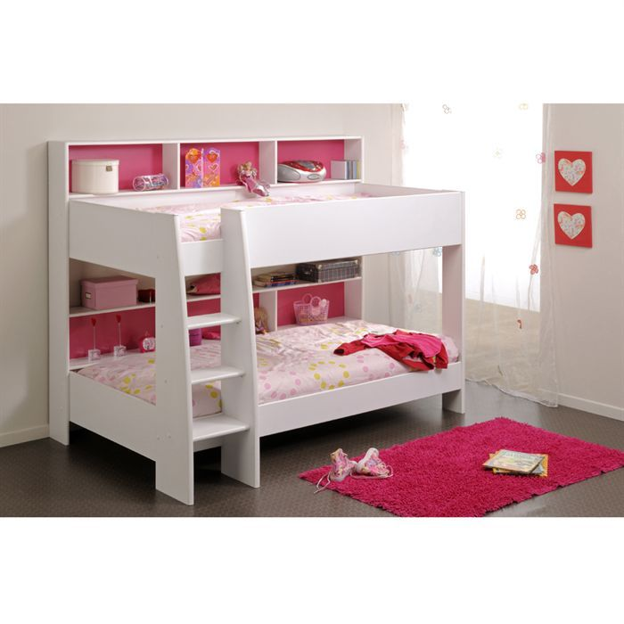 jim lit enfant superpos 90x200 blanc achat vente lits. Black Bedroom Furniture Sets. Home Design Ideas
