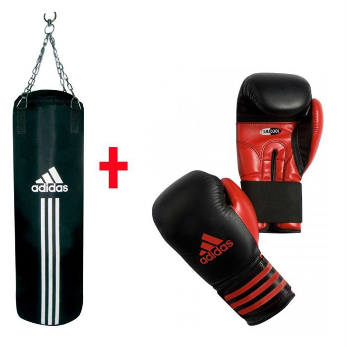 adidas kit sac de frappe gants de boxe prix pas cher. Black Bedroom Furniture Sets. Home Design Ideas