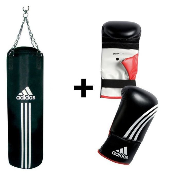 adidas kit sac de frappe gants de boxe prix pas cher cdiscount. Black Bedroom Furniture Sets. Home Design Ideas