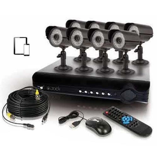 kit de surveillance 8 cam ras super cmos achat vente cam ra de surveillance m tal cdiscount. Black Bedroom Furniture Sets. Home Design Ideas