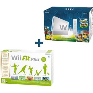 CONSOLE WII INAZUMA ELEVEN STRIKERS PACK BLANC + Wii FIT PLUS