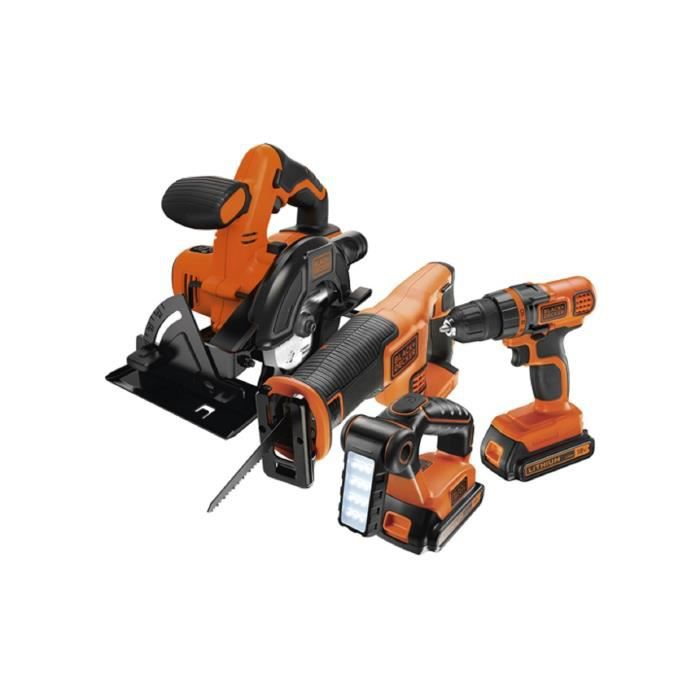 black decker kit 4 outils 18 v incluant perceuse. Black Bedroom Furniture Sets. Home Design Ideas